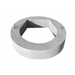 Pierścień odciążający do wpustu- element sieci wodno- kanalizacyjnej