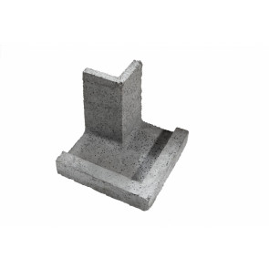 Kształtka wieńcowa zewnętrzna narożna wklęsła KWZW- element ścienny